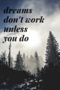 dreamsdon't work unless you do